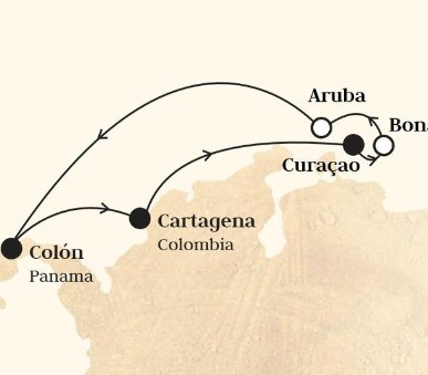 Monarch - Kolumbie, Nizozemské Antily, Aruba, Panama (Cartagena De Indias)