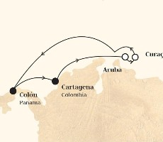 Monarch - Kolumbie, Aruba, Nizozemské Antily, Panama (Cartagena de Indias)