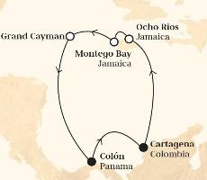 Monarch - Kolumbie, Jamajka, Kajmanské Ostrovy, Panama (Cartagena de Indias )