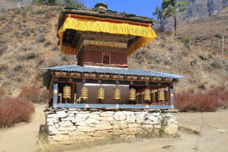Bhútán s turistikou v zeleném Himálaji (fotografie 12)