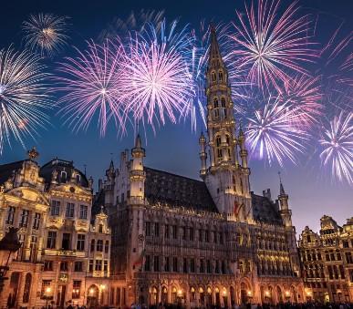 Silvestr v Belgii: Brusel a Bruggy s ohňostrojem