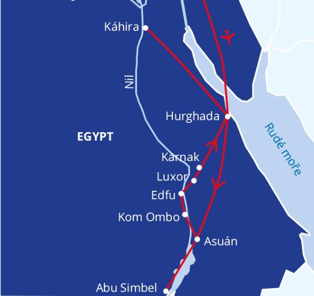 Egypt lodí po Nilu s pobytem u moře (fotografie 2)