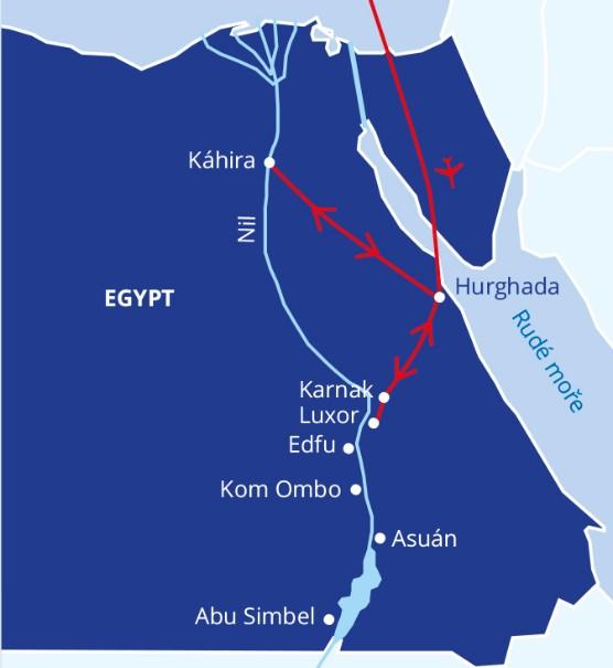 Malý okruh Egyptem s koupáním v Hurghadě (fotografie 2)