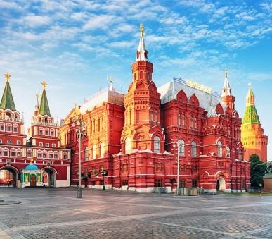 Krásy Moskvy a Petrohradu