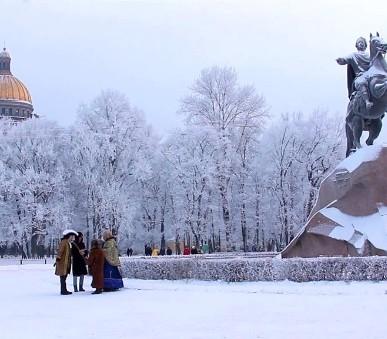 Zimní Petrohrad