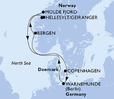 Msc Poesia - Německo, Norsko, Dánsko (Warnemünde)