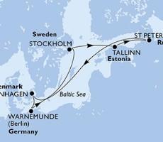 Msc Poesia - Německo, Švédsko, Estonsko, Rusko, Dánsko (Warnemünde)