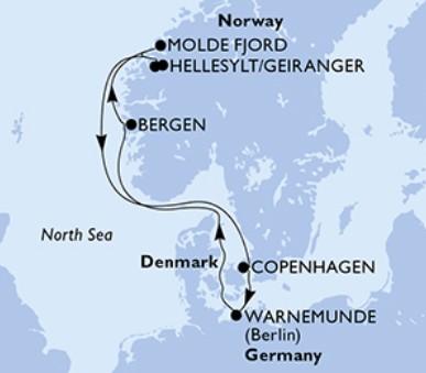 Msc Poesia - Dánsko, Německo, Norsko (Kodaň)