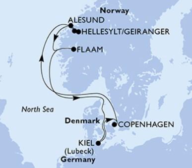 Msc Meraviglia - Německo, Dánsko, Norsko (Kiel)