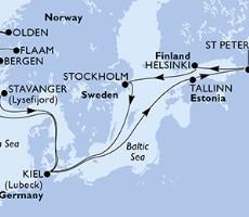 Msc Splendida - Německo, Norsko, Estonsko, Rusko, Finsko, Švédsko (Kiel)