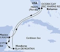 Msc Meraviglia - Usa, Honduras, Belize, Mexiko, Bahamy (z Miami)