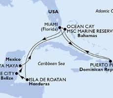 Msc Meraviglia - Usa, Dominikán.rep., Bahamy, Honduras, Belize, Mexiko (z Miami)