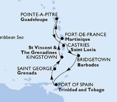 Msc Splendida-Guadeloupe,Sv.Lucie,Barbados,Trinidad a Tobago,Grenada,Saint Vincent & The Grenadines