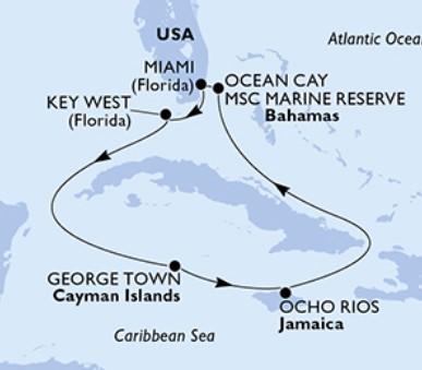 Msc Armonia - Usa, Kajmanské ostrovy, Jamajka, Bahamy (z Miami)
