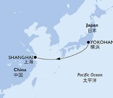 Msc Bellissima - Japonsko, Čína (Jokohama)