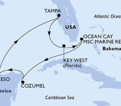 MSC Armonia - USA, Bahamy, Mexiko