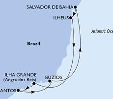 Msc Grandiosa - Santos, Buzios, Salvador, Ilheus, Ilha Grande, Santos (Santos)