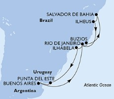 Msc Preziosa - Brazílie, Uruguay, Argentina (z Rio de Janeira)