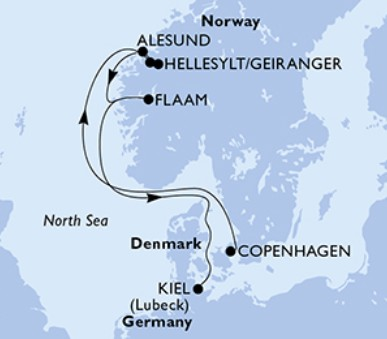 Msc Meraviglia - Dánsko, Norsko, Německo (Kodaň)