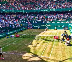 Noventi Open 2021 v Halle semifinále bus