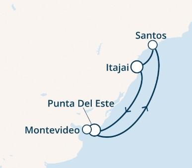 Costa Luminosa - Uruguay, Brazílie (Punta del Este)
