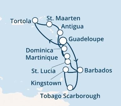 Costa Favolosa - Antily, Trinidad a Tobago, Panenské ostrovy, Dominika (Pointe-a-Pitre)