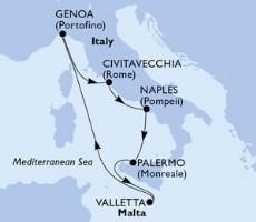 MSC Grandiosa - Itálie, Malta (z Civitavecchie)